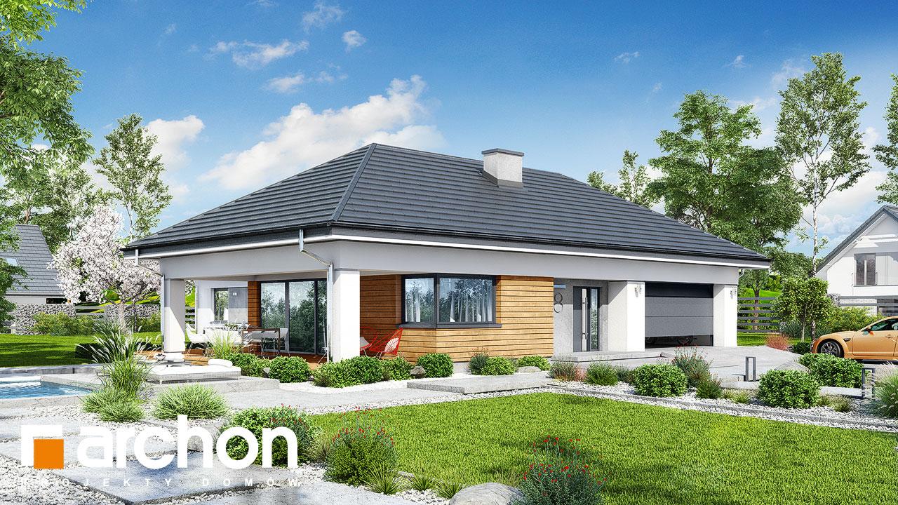 Проект будинку ARCHON+ Будинок в соняшниках 2 (Г2) Вид 2