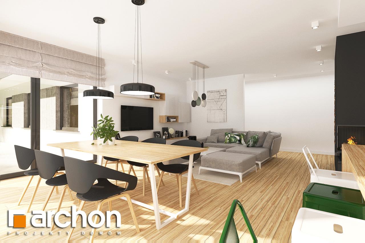 Проект будинку ARCHON+ Будинок в соняшниках 2 (Г2) денна зона (візуалізація 1 від 2)