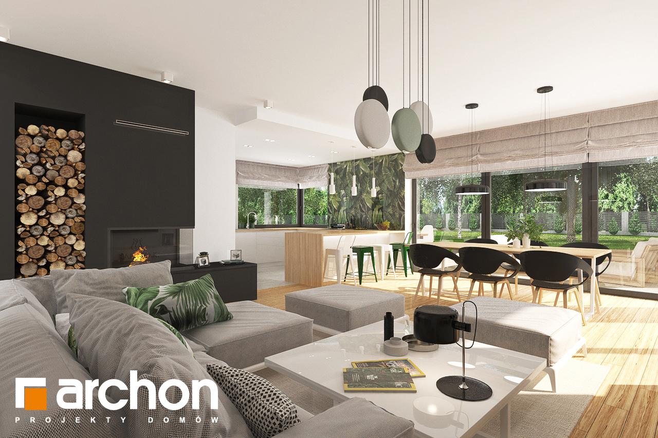 Проект будинку ARCHON+ Будинок в соняшниках 2 (Г2) денна зона (візуалізація 1 від 3)