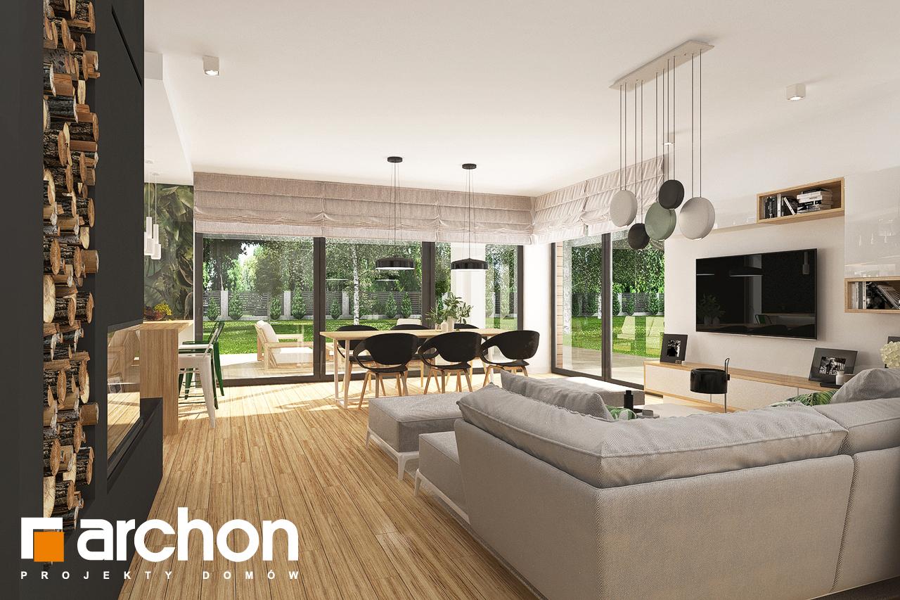 Проект будинку ARCHON+ Будинок в соняшниках 2 (Г2) денна зона (візуалізація 1 від 4)