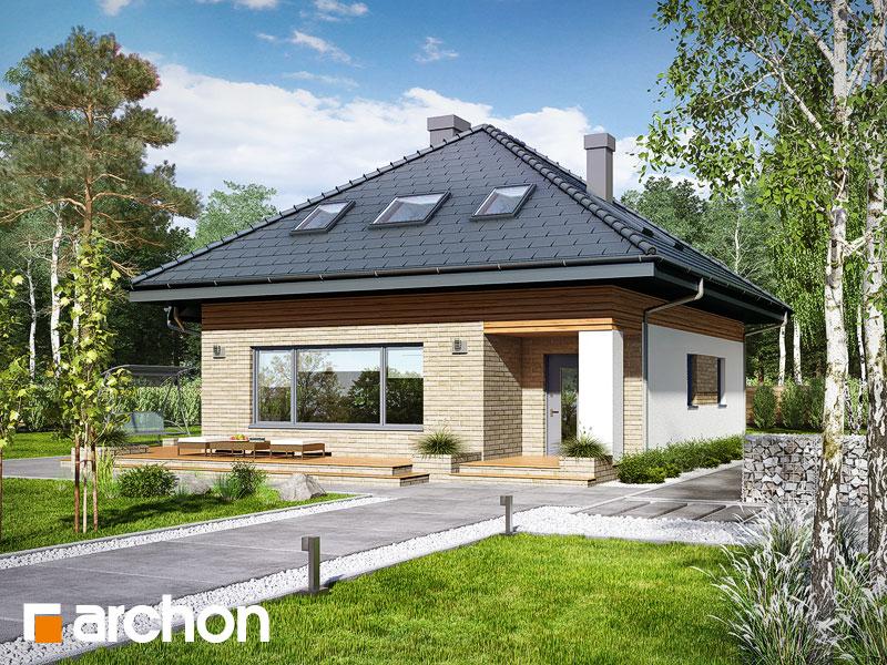 Проект будинку ARCHON+ Будинок в бузку (М) вер.2 Вид 1