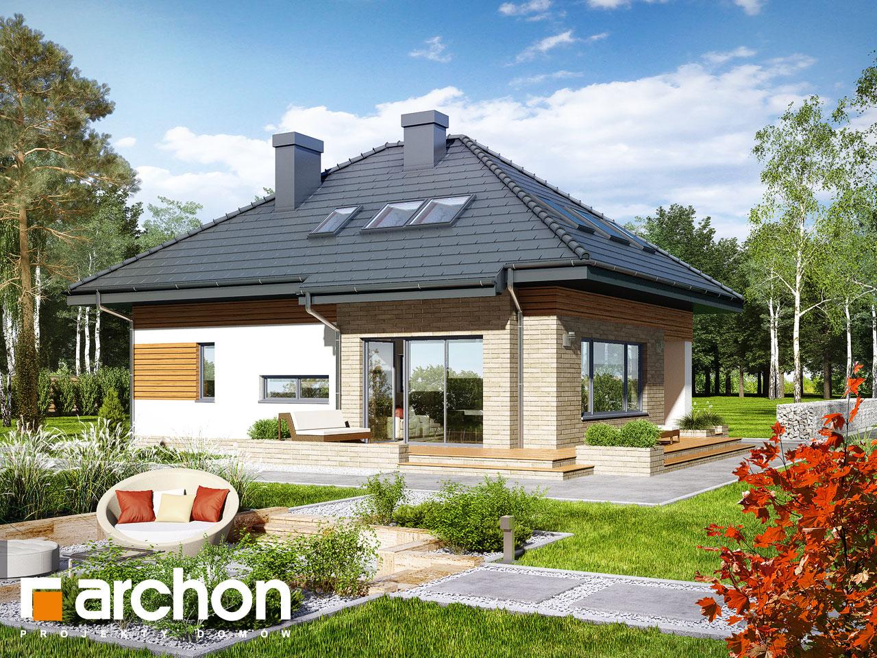 Проект будинку ARCHON+ Будинок в бузку (М) Вид 2