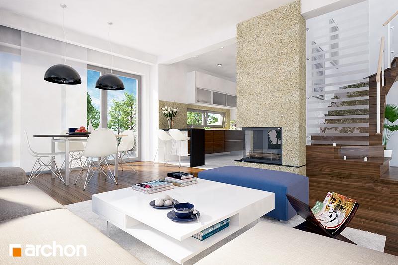 Проект будинку ARCHON+ Будинок в бузку (М) вер.2 денна зона (візуалізація 1 від 1)