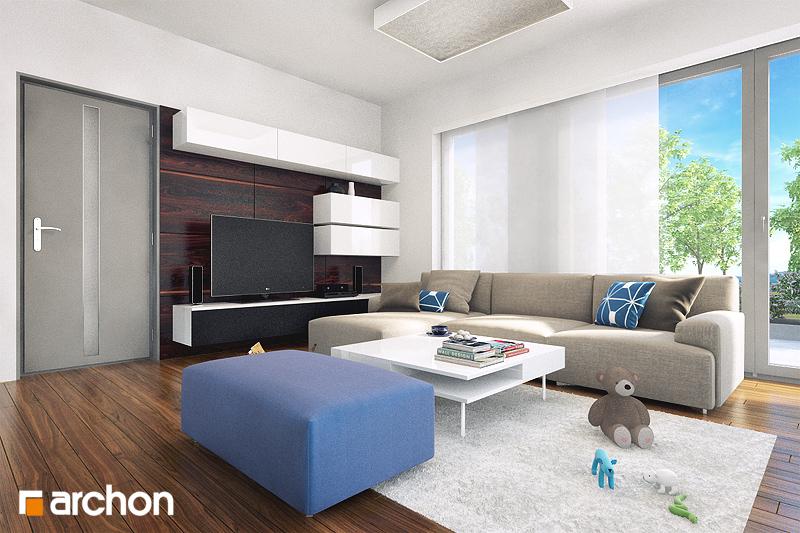 Проект будинку ARCHON+ Будинок в бузку (М) денна зона (візуалізація 1 від 2)
