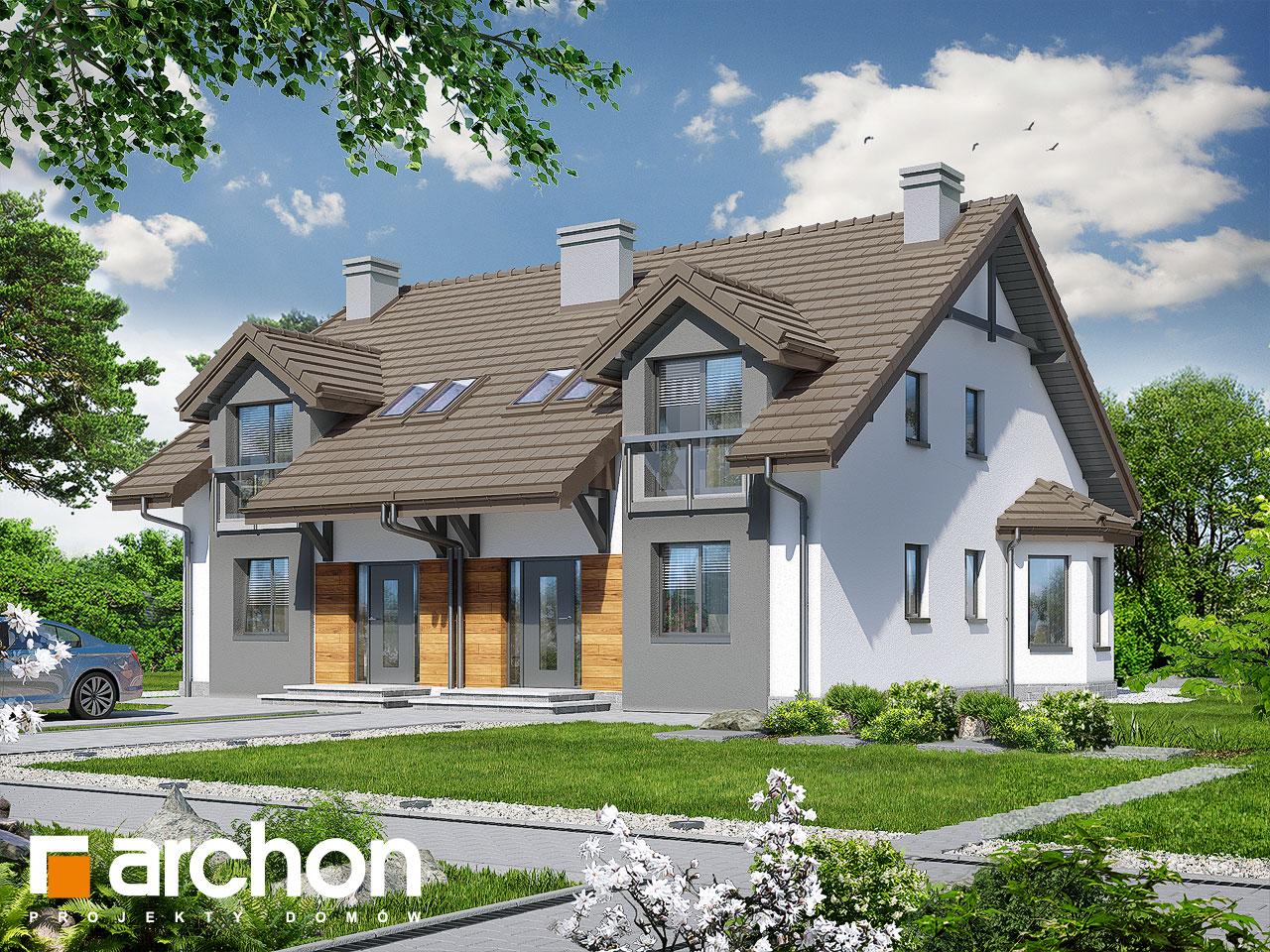 Проект будинку ARCHON+ Будинок в дельфініумі 2 вер.2 візуалізація усіх сегментів