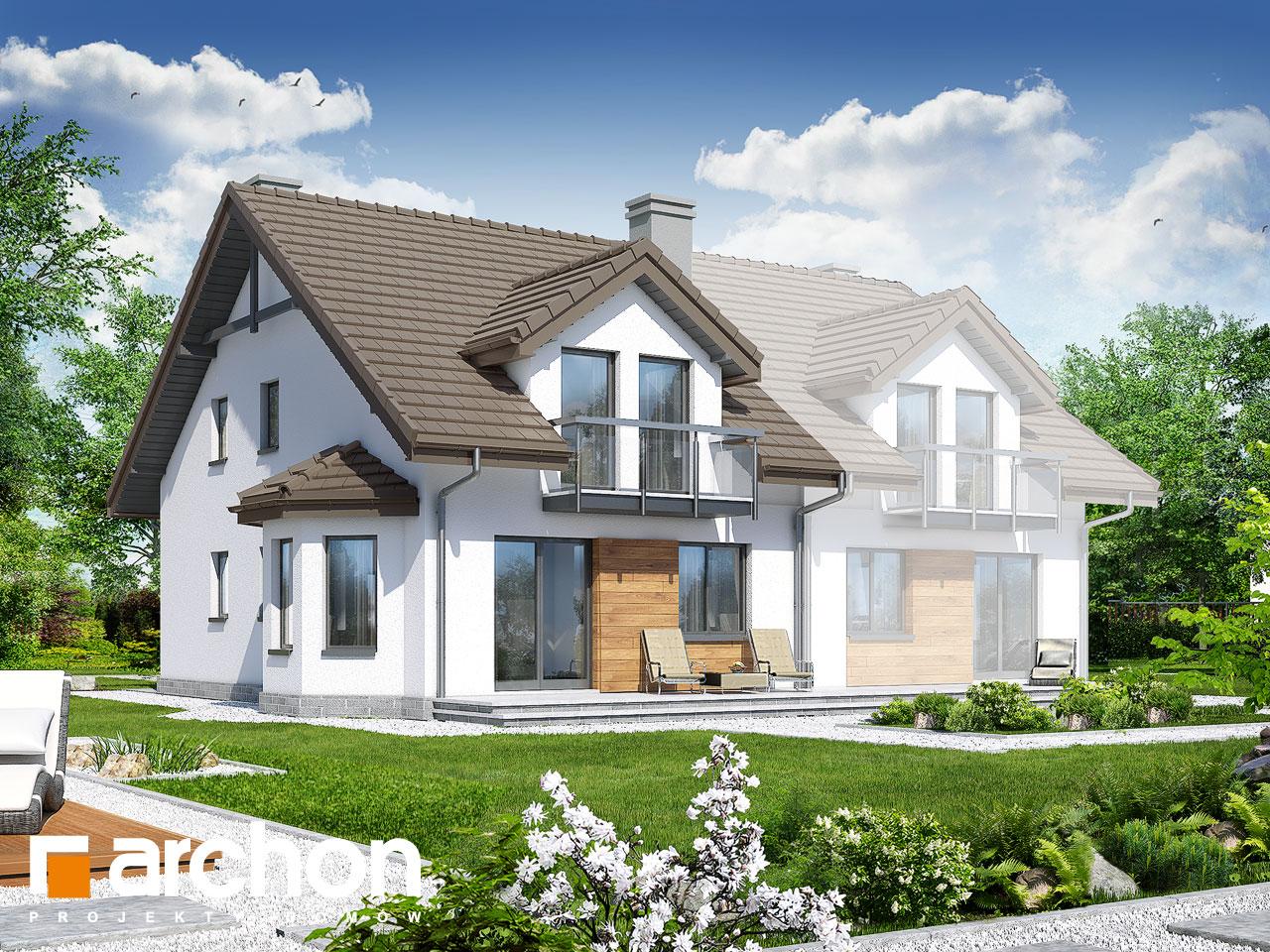 Проект будинку ARCHON+ Будинок в дельфініумі 2 вер.2 Вид 2