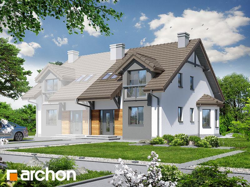 Проект будинку ARCHON+ Будинок в дельфініумі 2 вер.2 Вид 1