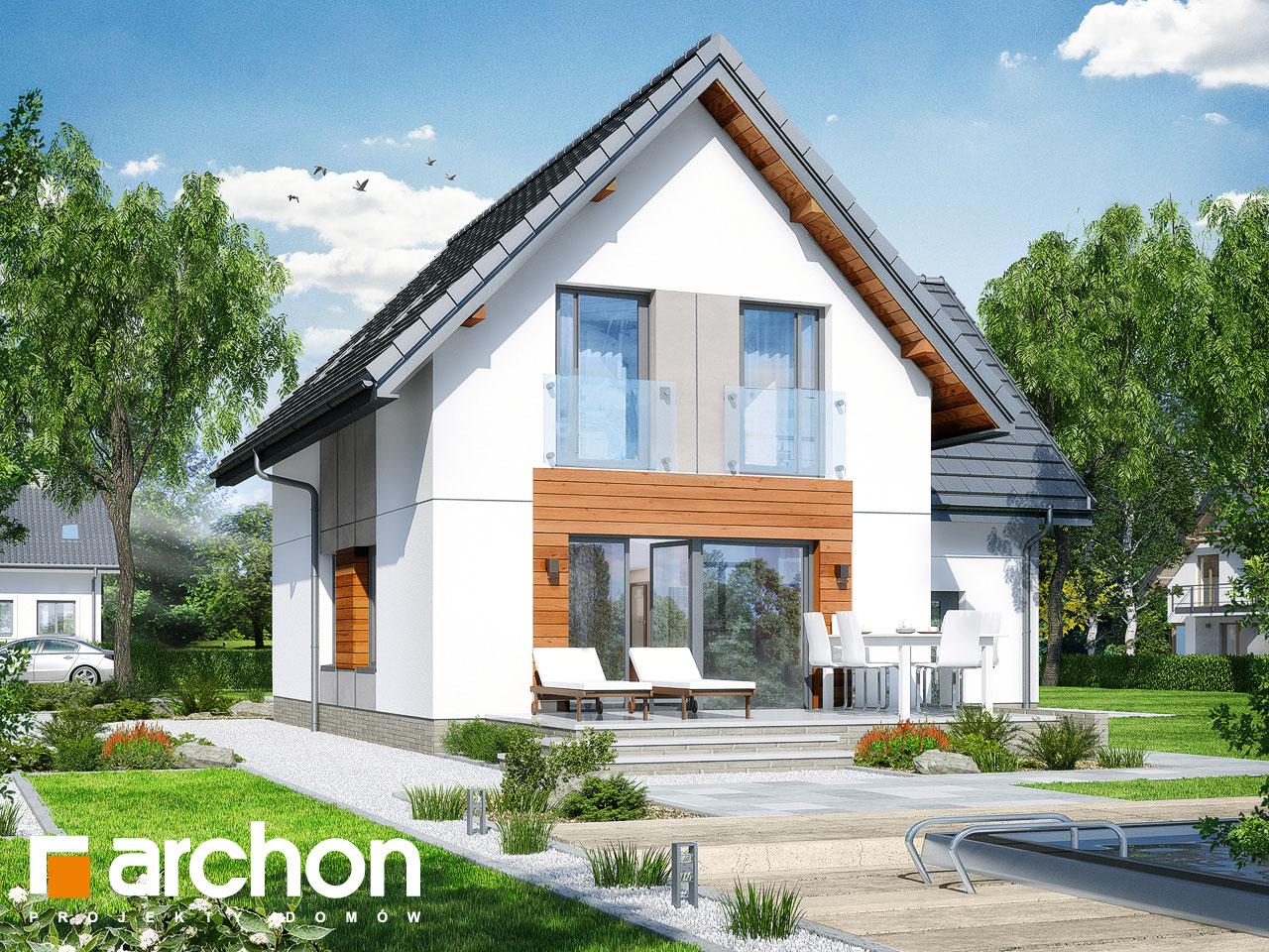 Проект будинку ARCHON+ Будинок у винограді 6 Вид 2
