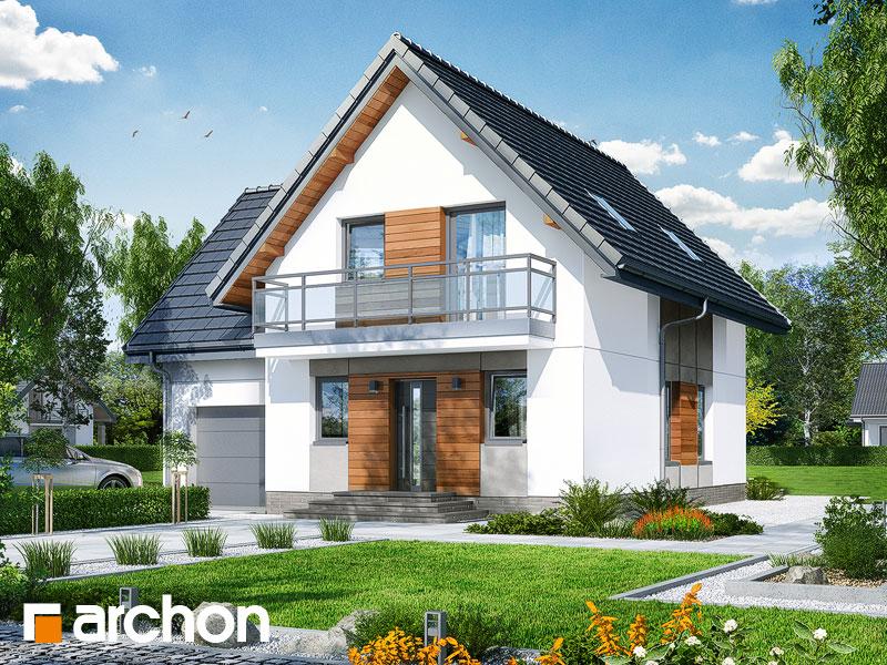 Проект будинку ARCHON+ Будинок у винограді 6 Вид 1