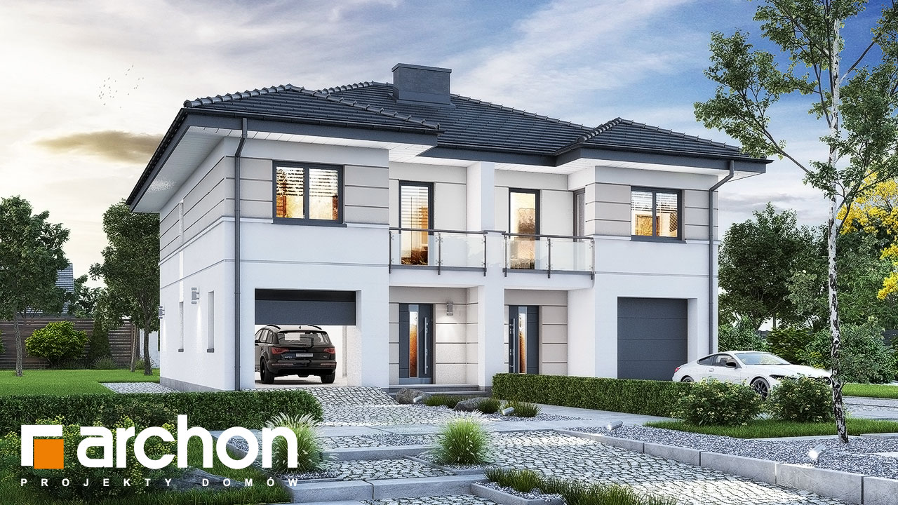 Проект будинку ARCHON+ Вілла Амелія (П2) вер.2 стилізація 3