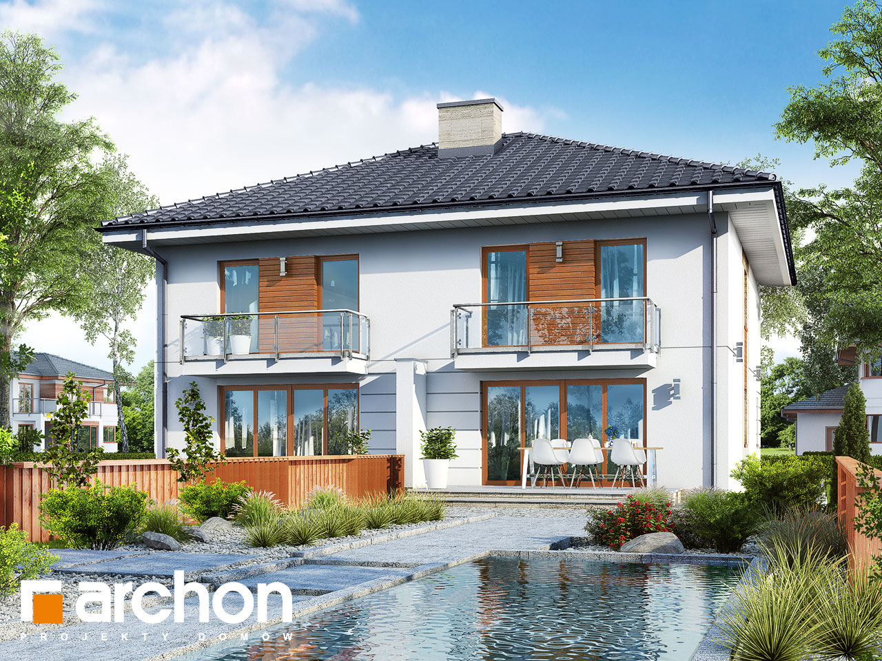 Проект дома ARCHON+ Вилла Амелия (Р2) вер.2 Вид 2