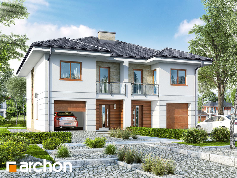 Проект дома ARCHON+ Вилла Амелия (Р2) вер.2 Вид 1