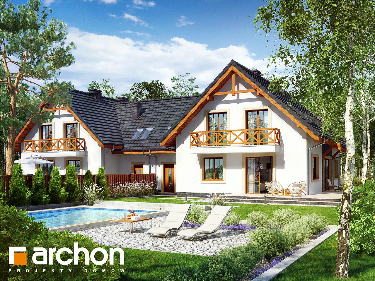 Проект будинку ARCHON+ Будинок під фісташковим деревом 2(Б) вер.2 візуалізація усіх сегментів