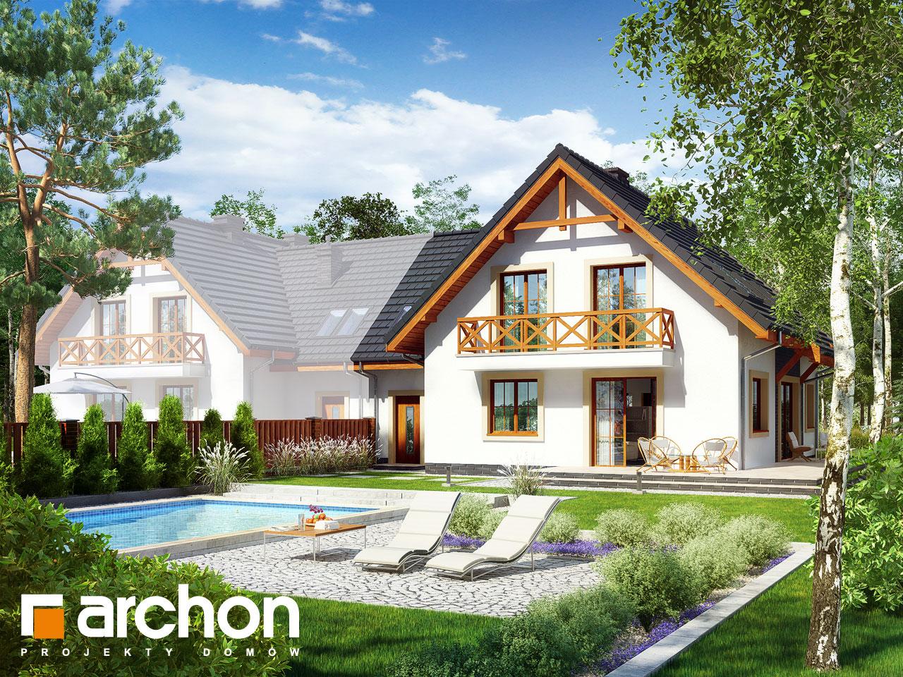Проект будинку ARCHON+ Будинок під фісташковим деревом 2(Б) вер.2 Вид 2