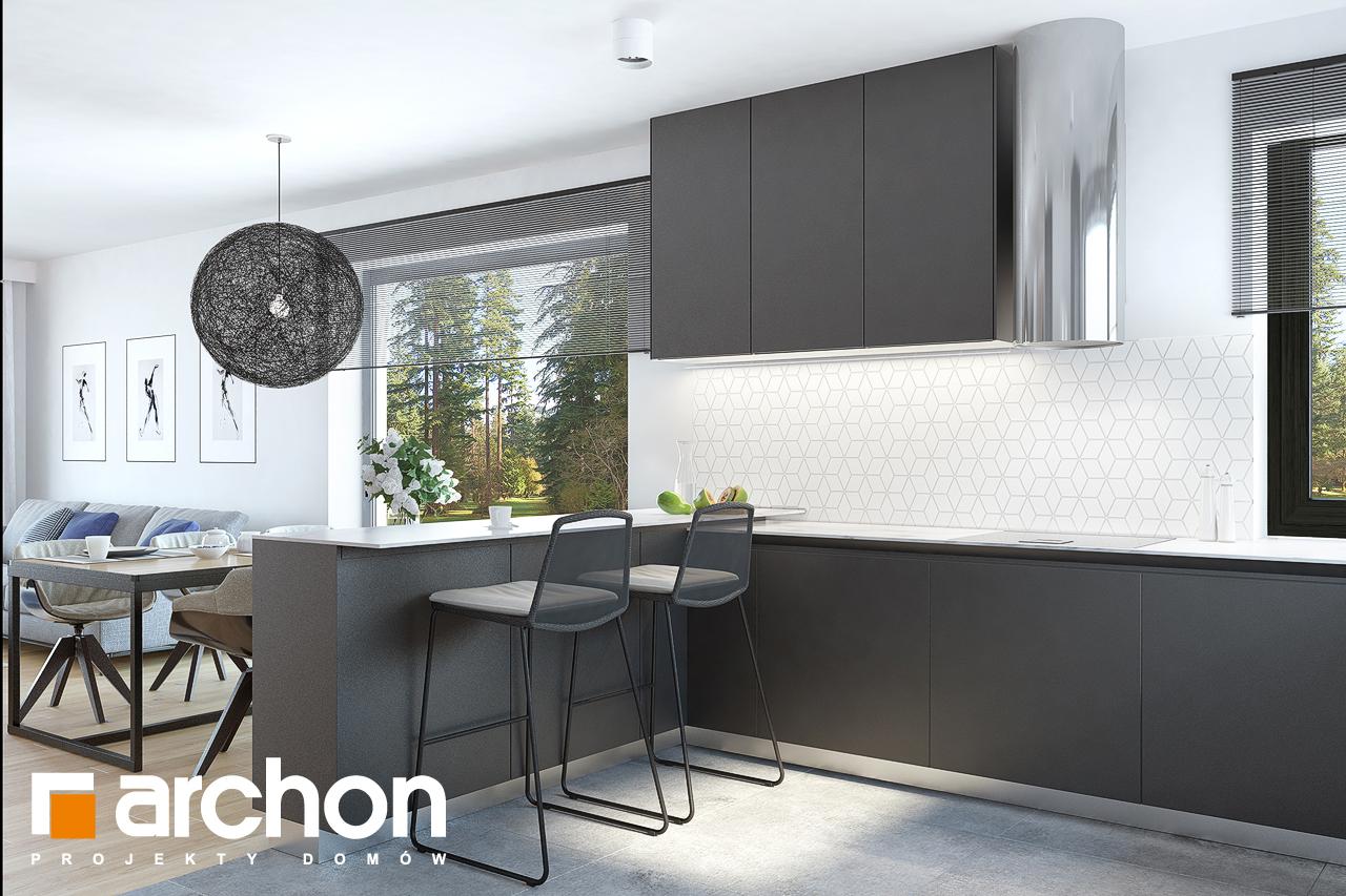 Проект дома ARCHON+ Дом в нарциссах (В) визуализация кухни 1 вид 2
