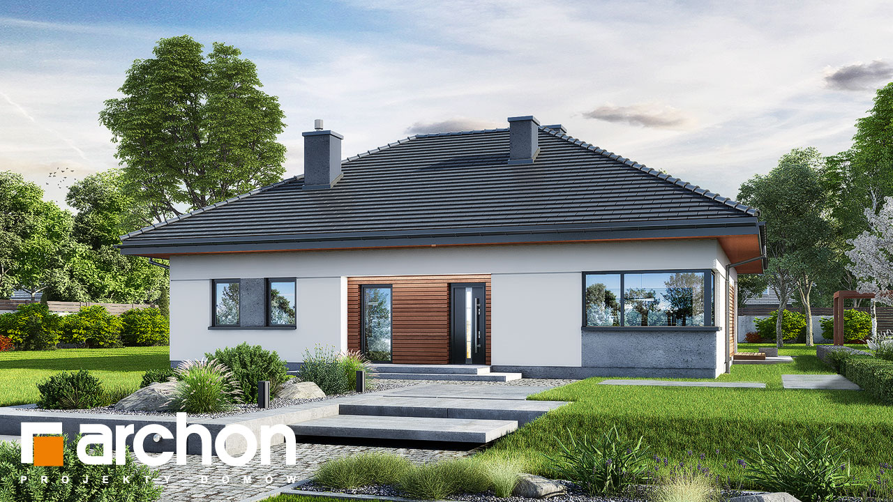 Проект будинку ARCHON+ Будинок в жонкілях (В) Вид 2