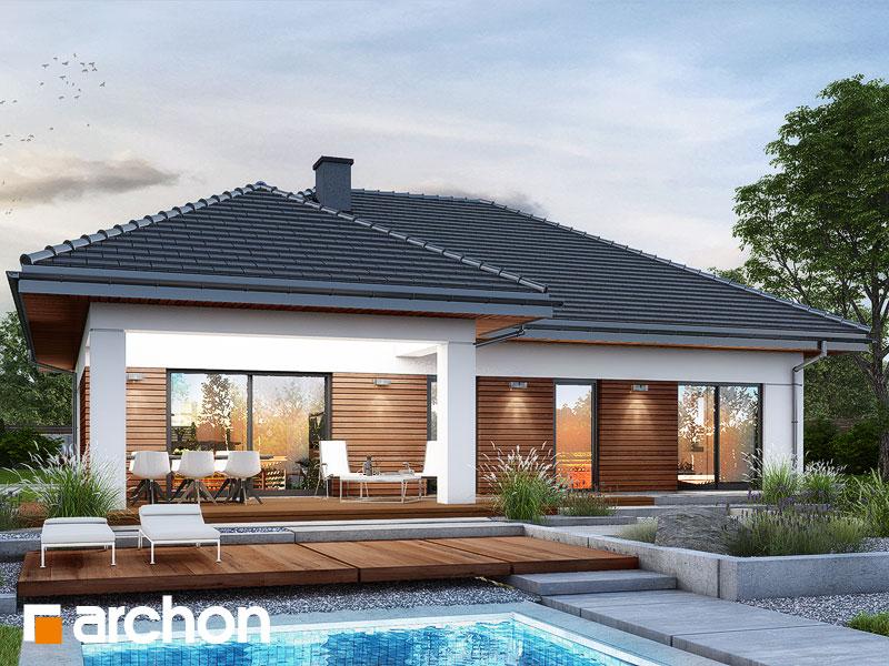 Проект дома ARCHON+ Дом в нарциссах (В) Вид 1