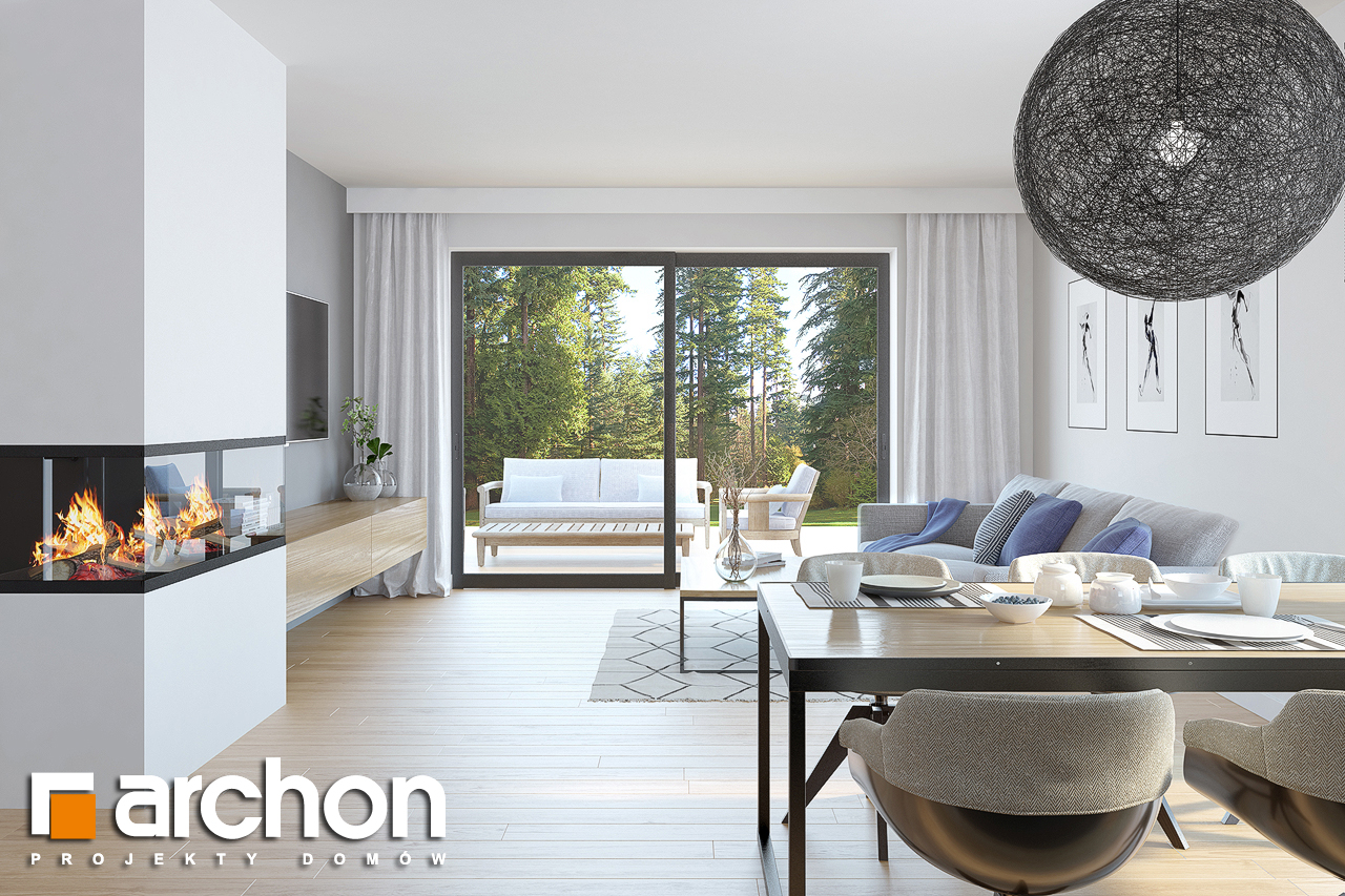 Проект будинку ARCHON+ Будинок в нарцисах (В) денна зона (візуалізація 1 від 1)