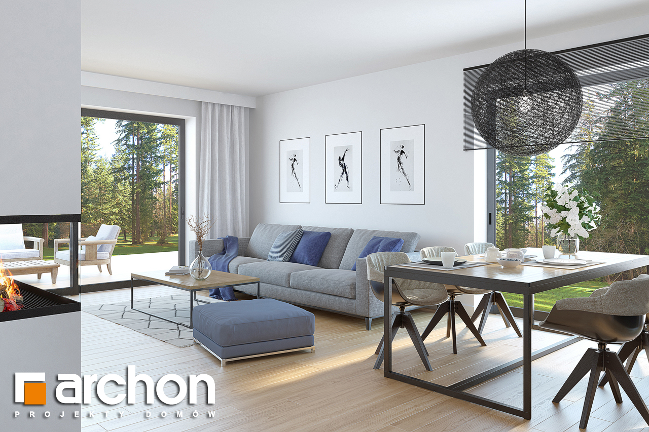 Проект будинку ARCHON+ Будинок в нарцисах (В) денна зона (візуалізація 1 від 2)