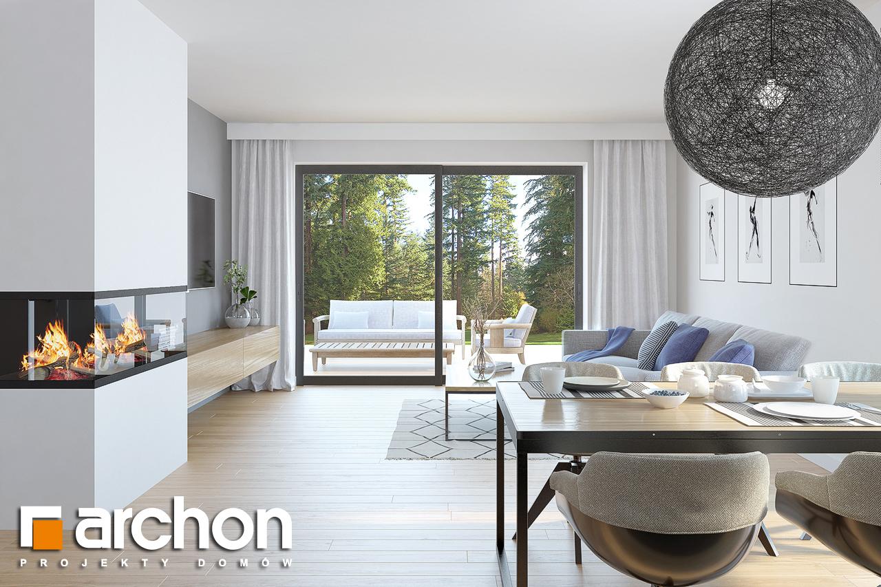 Проект дома ARCHON+ Дом в нарциссах (В) дневная зона (визуализация 1 вид 1)