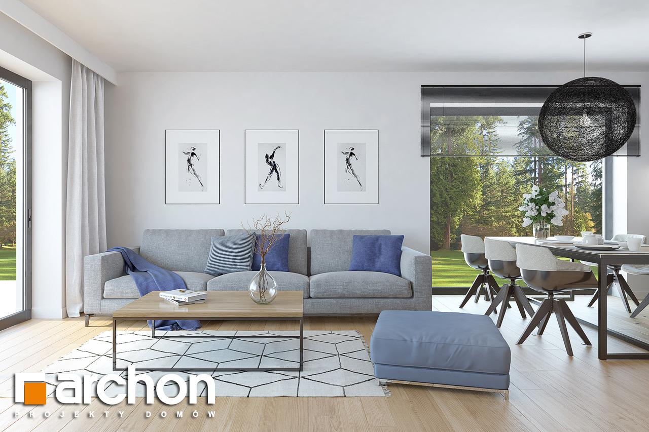 Проект дома ARCHON+ Дом в нарциссах (В) дневная зона (визуализация 1 вид 3)