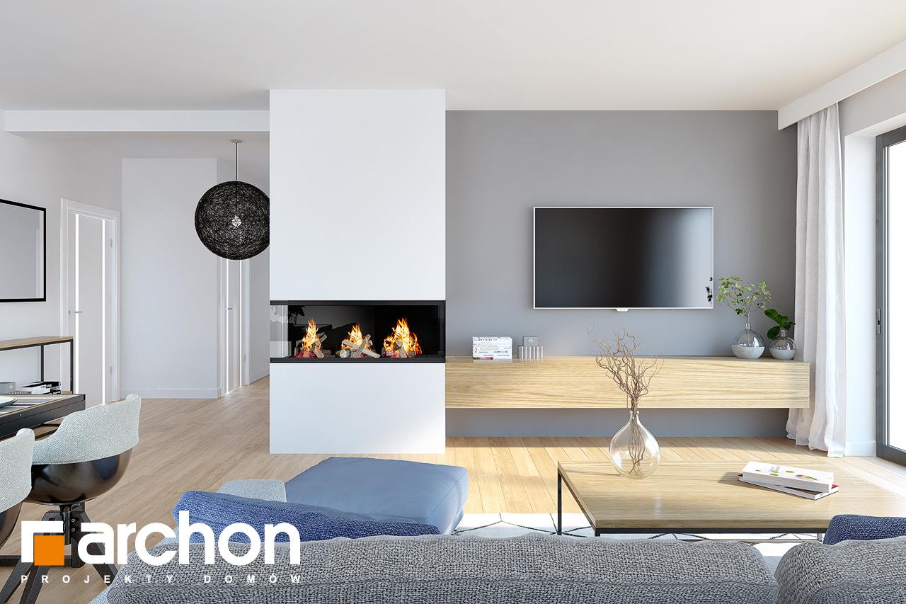 Проект дома ARCHON+ Дом в нарциссах (В) дневная зона (визуализация 1 вид 4)