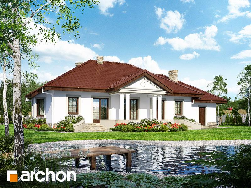 Проект будинку ARCHON+ Будинок в гаурах вер.2 додаткова візуалізація