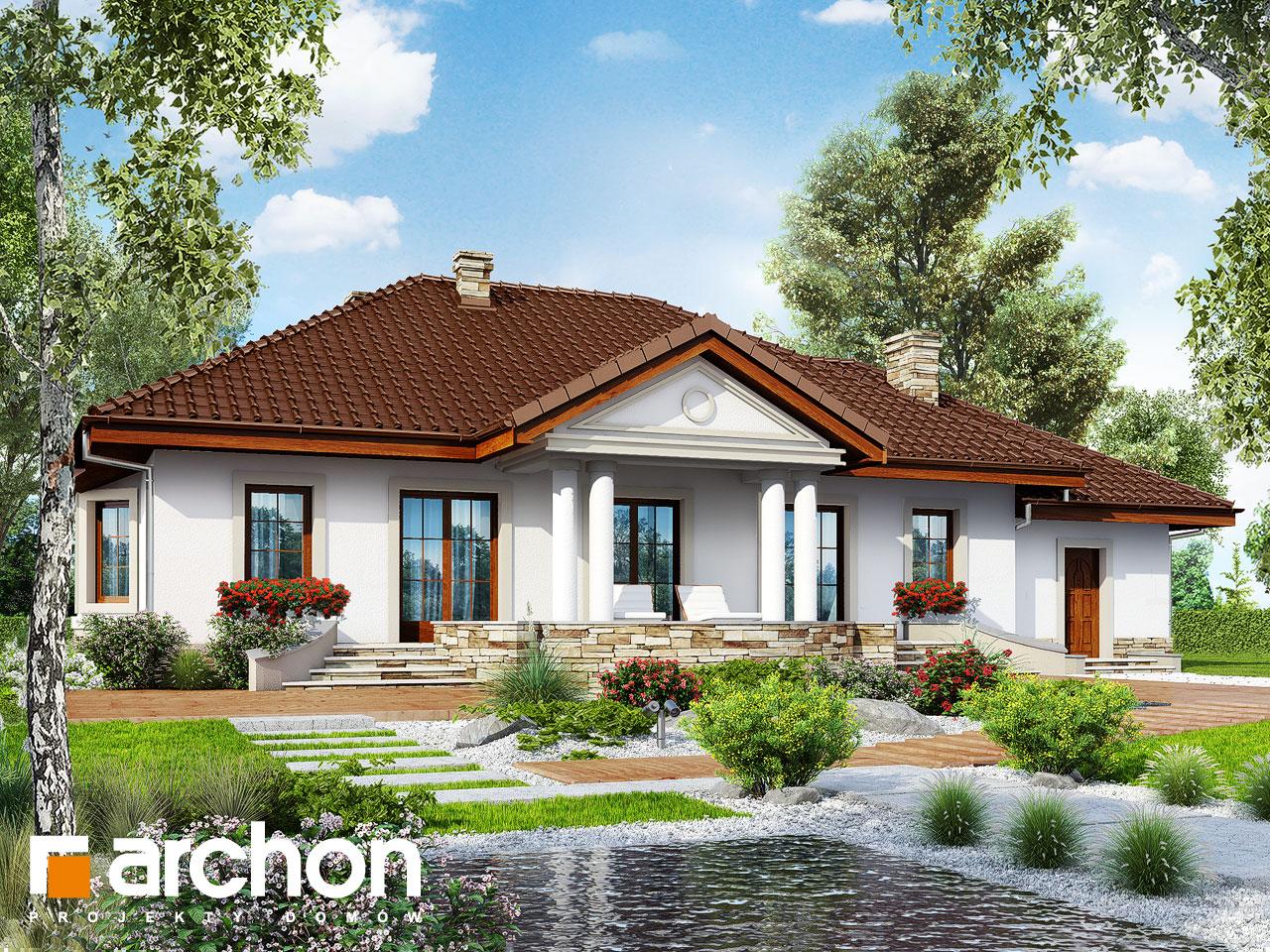 Проект будинку ARCHON+ Будинок в гаурах вер.2 Вид 2