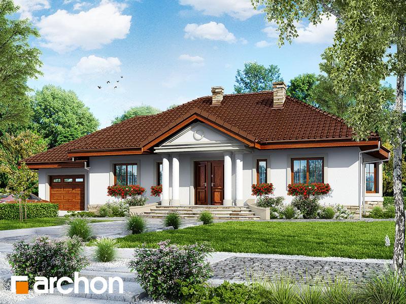 Проект будинку ARCHON+ Будинок в гаурах вер.2 Вид 1
