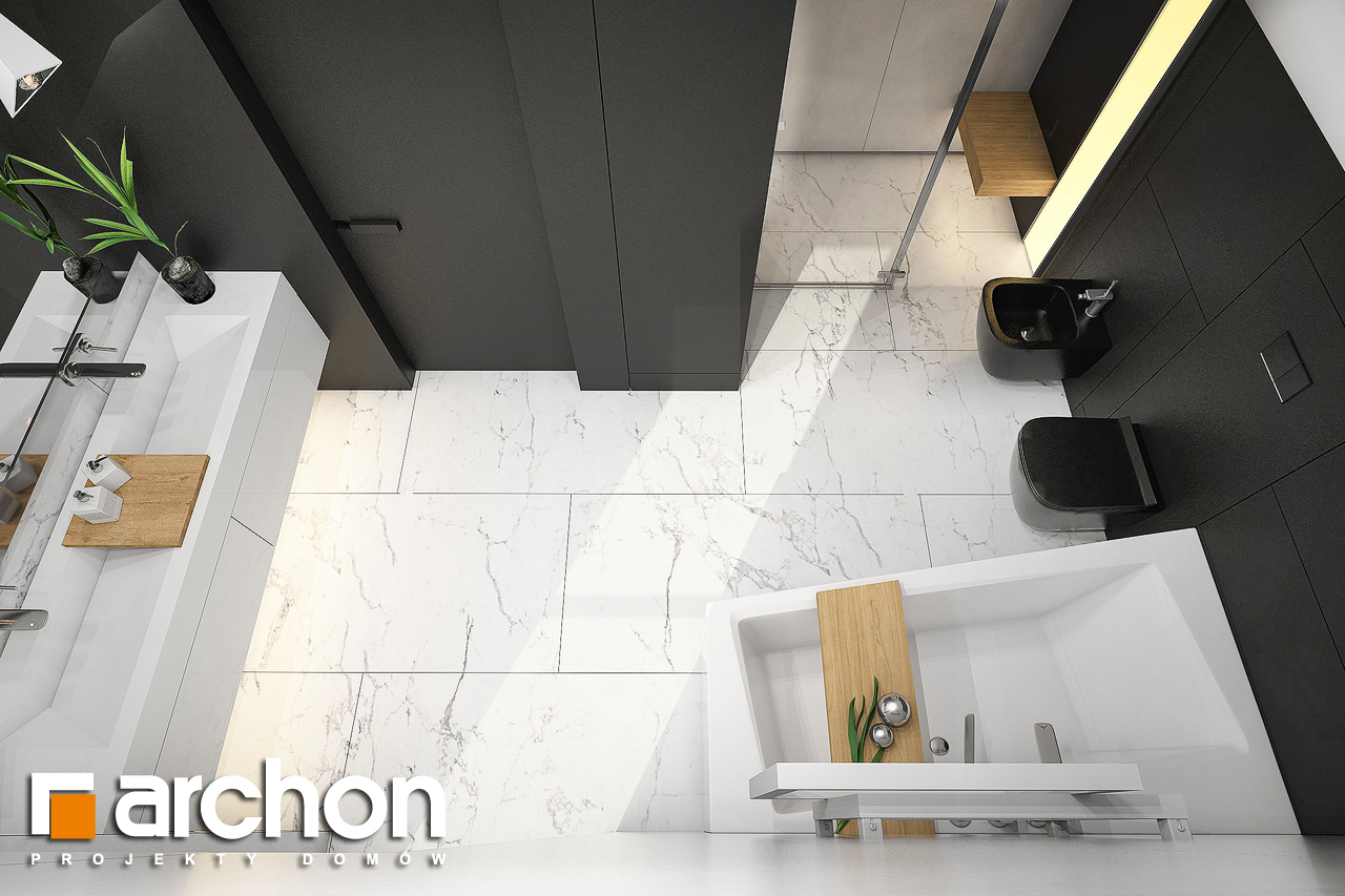 Проект будинку ARCHON+ Будинок в ізопірумі 11 візуалізація ванни (візуалізація 3 від 4)