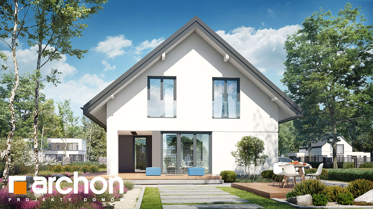Проект будинку ARCHON+ Будинок в ізопірумі 11 стилізація 6