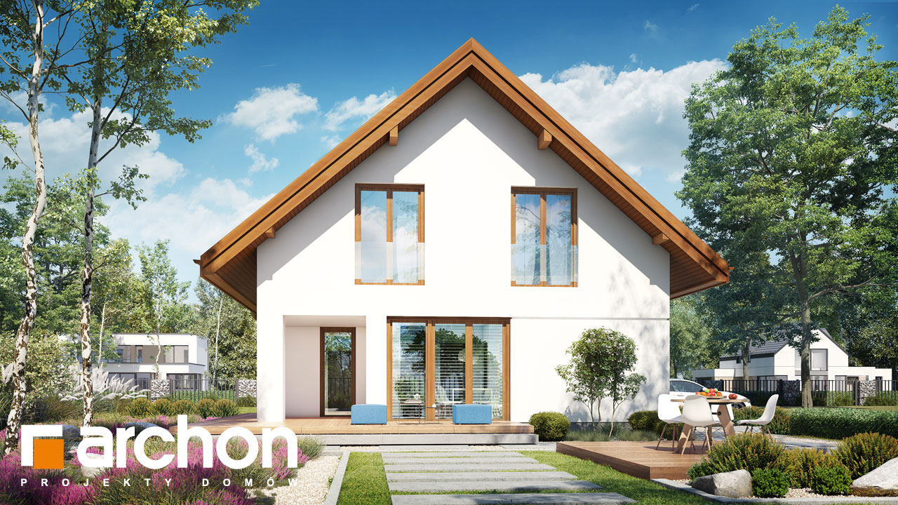Проект будинку ARCHON+ Будинок в ізопірумі 11 стилізація 8