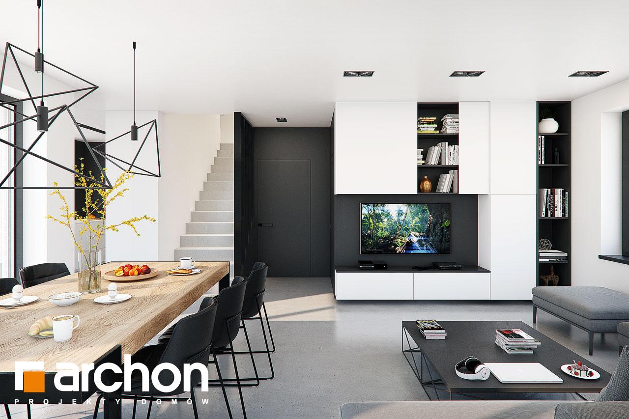 Проект будинку ARCHON+ Будинок в ізопірумі 11 денна зона (візуалізація 1 від 2)