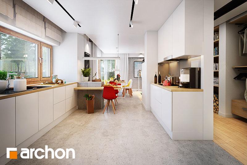 Проект будинку ARCHON+ Будинок в галах (Г) візуалізація кухні 1 від 1