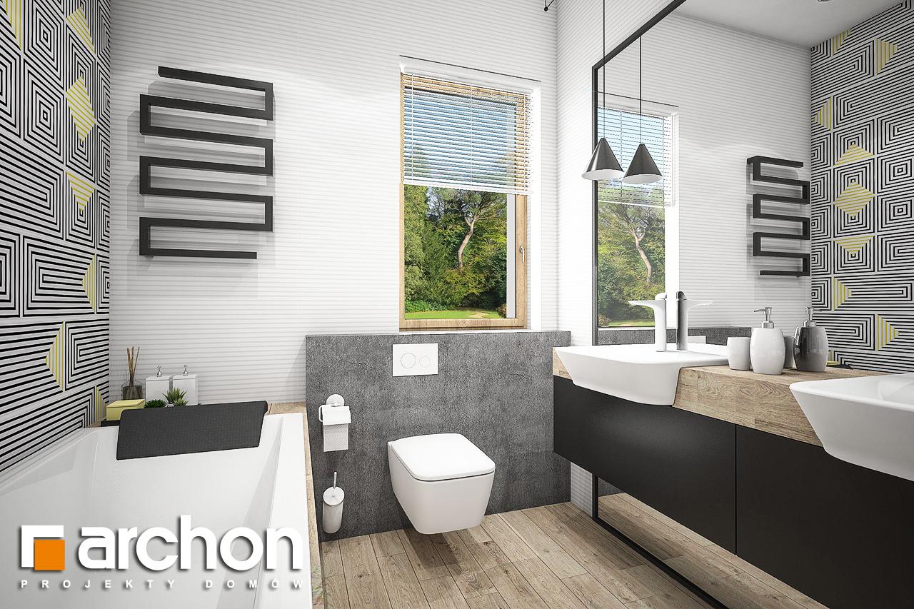 Проект будинку ARCHON+ Будинок в галах (Г) візуалізація ванни (візуалізація 3 від 1)