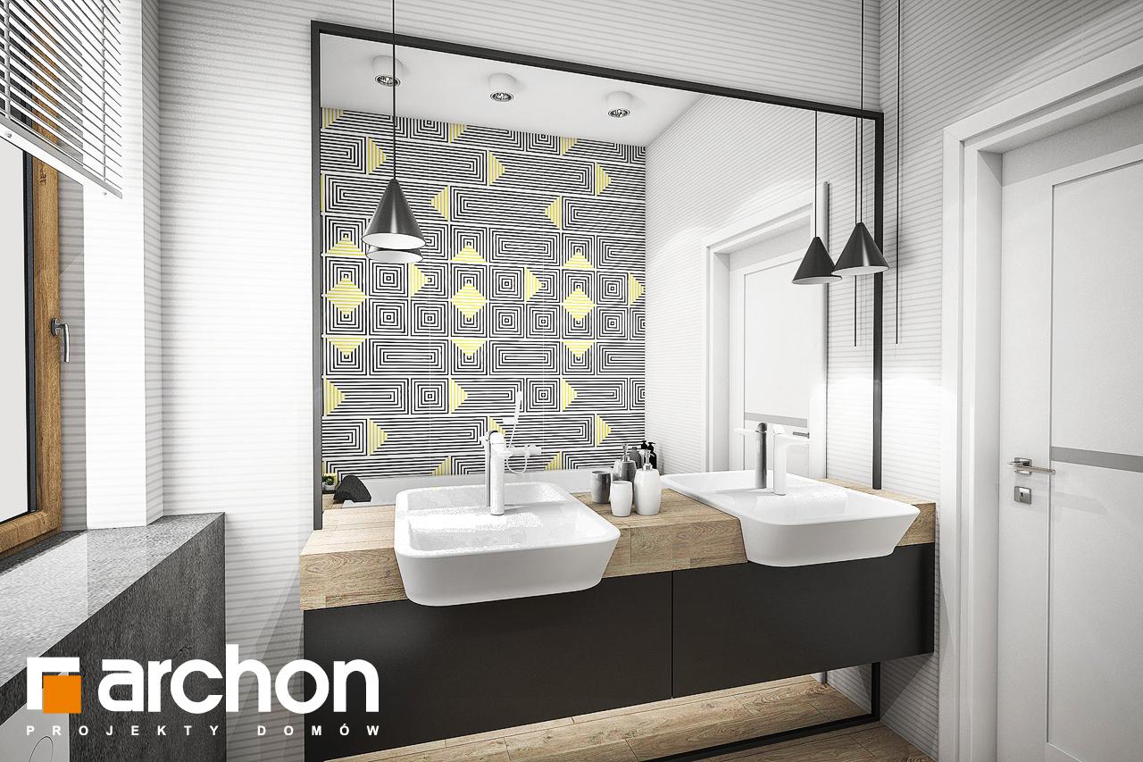 Проект будинку ARCHON+ Будинок в галах (Г) візуалізація ванни (візуалізація 3 від 2)