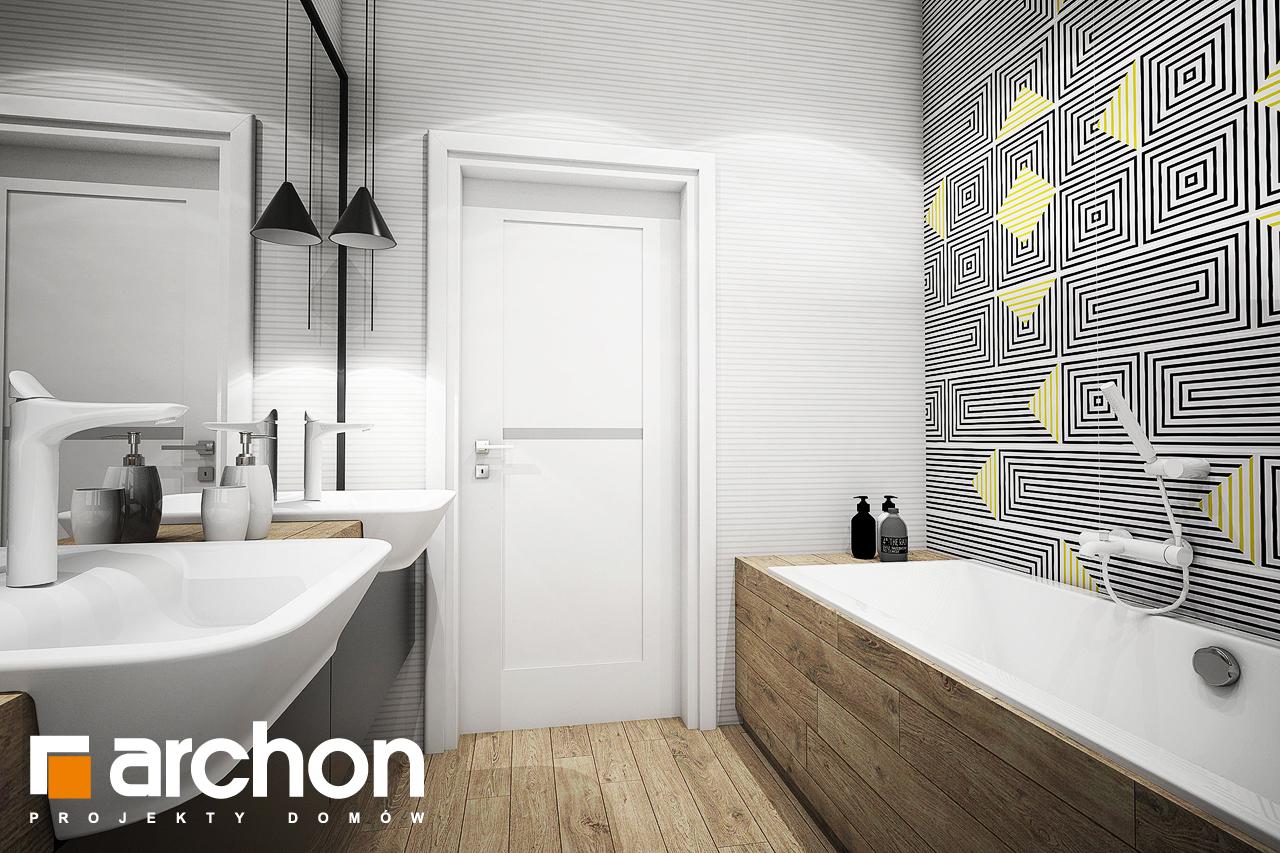 Проект будинку ARCHON+ Будинок в галах (Г) візуалізація ванни (візуалізація 3 від 3)