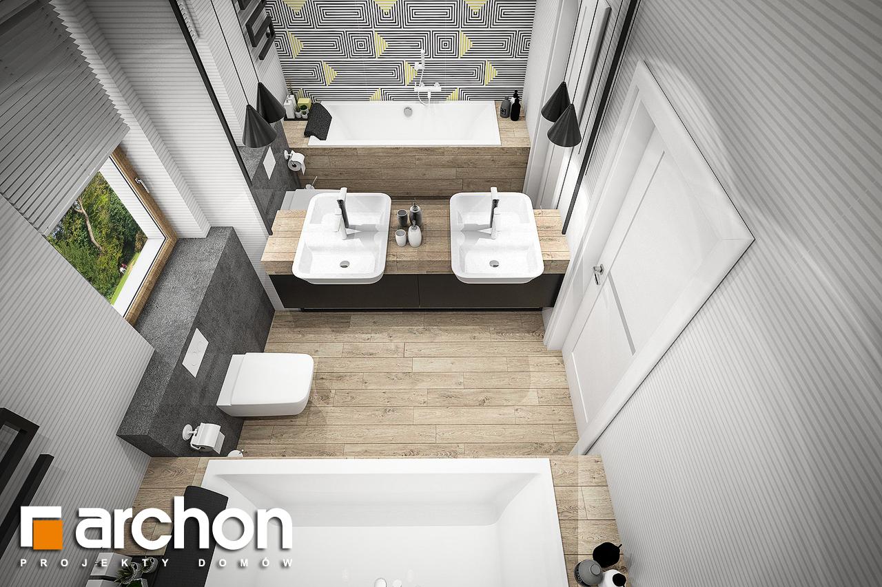 Проект будинку ARCHON+ Будинок в галах (Г) візуалізація ванни (візуалізація 3 від 4)