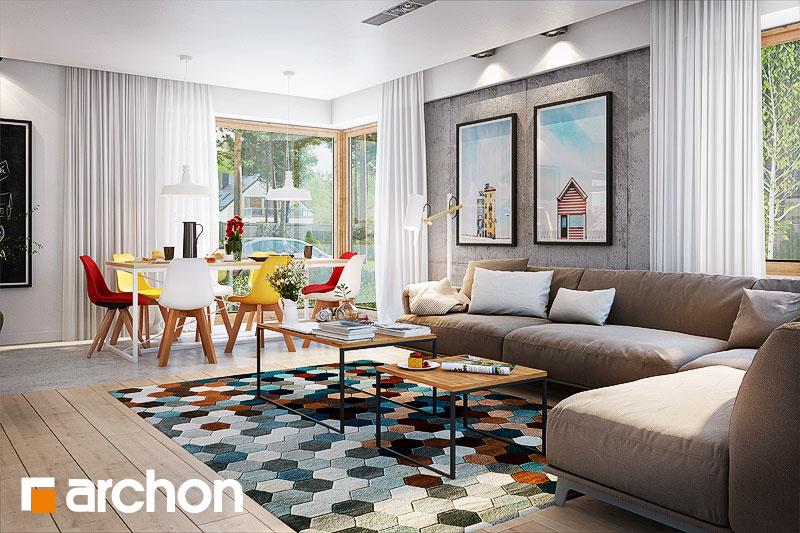 Проект будинку ARCHON+ Будинок в галах (Г) денна зона (візуалізація 1 від 1)