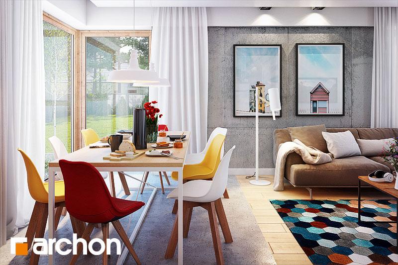 Проект будинку ARCHON+ Будинок в галах (Г) денна зона (візуалізація 1 від 2)