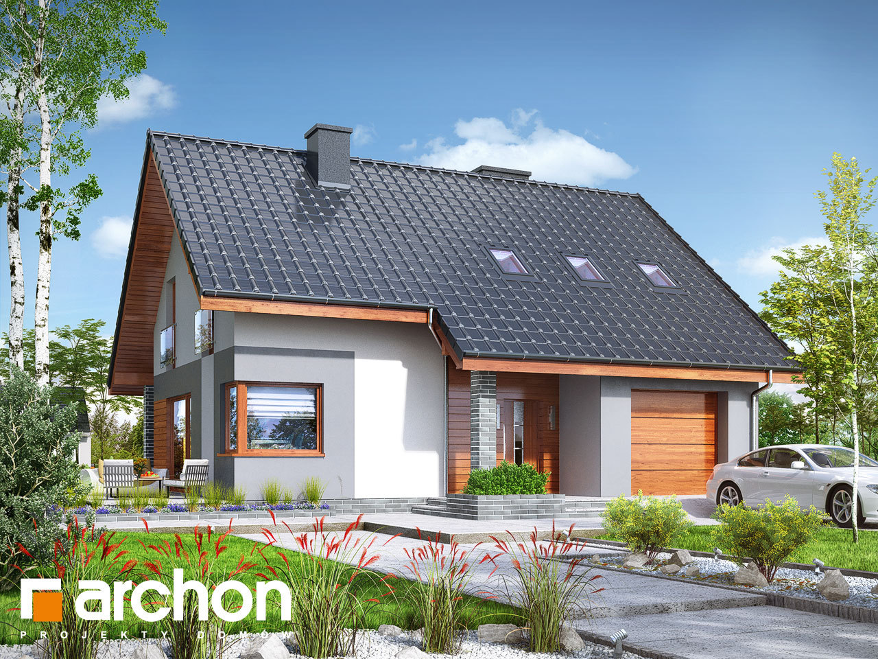 Проект будинку ARCHON+ Будинок в журавках 7