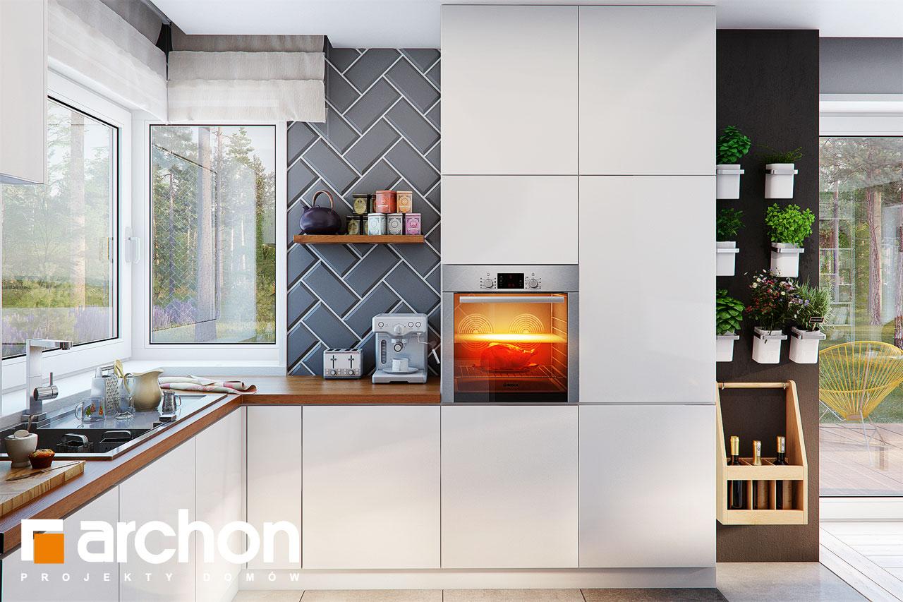 Проект дома ARCHON+ Дом в журавках 7 визуализация кухни 1 вид 2