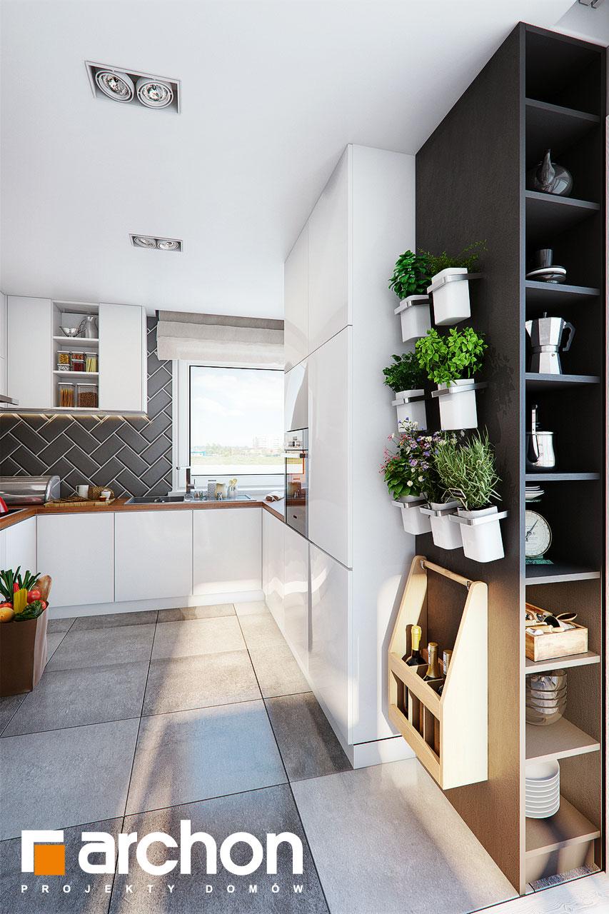 Проект дома ARCHON+ Дом в журавках 7 визуализация кухни 1 вид 3
