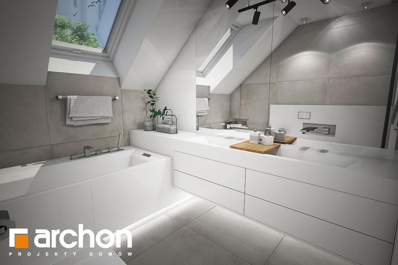 Проект будинку ARCHON+ Будинок в журавках 7 візуалізація ванни (візуалізація 3 від 1)