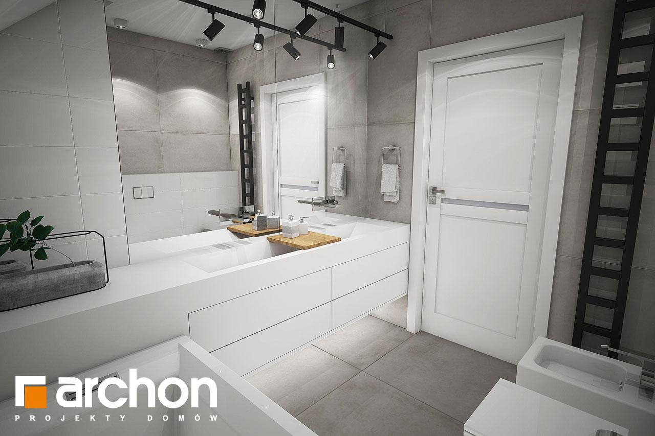 Проект будинку ARCHON+ Будинок в журавках 7 візуалізація ванни (візуалізація 3 від 2)
