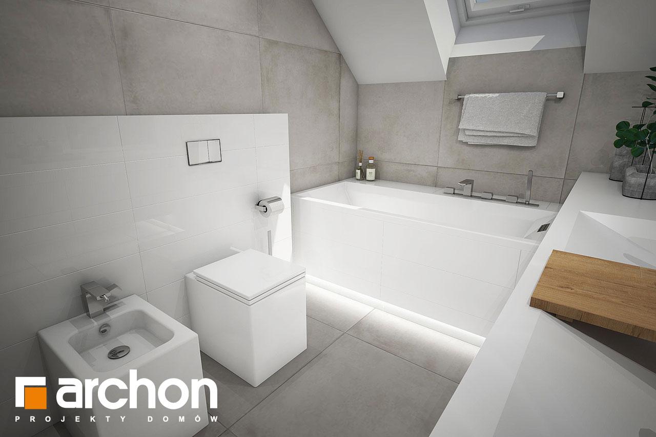 Проект будинку ARCHON+ Будинок в журавках 7 візуалізація ванни (візуалізація 3 від 3)