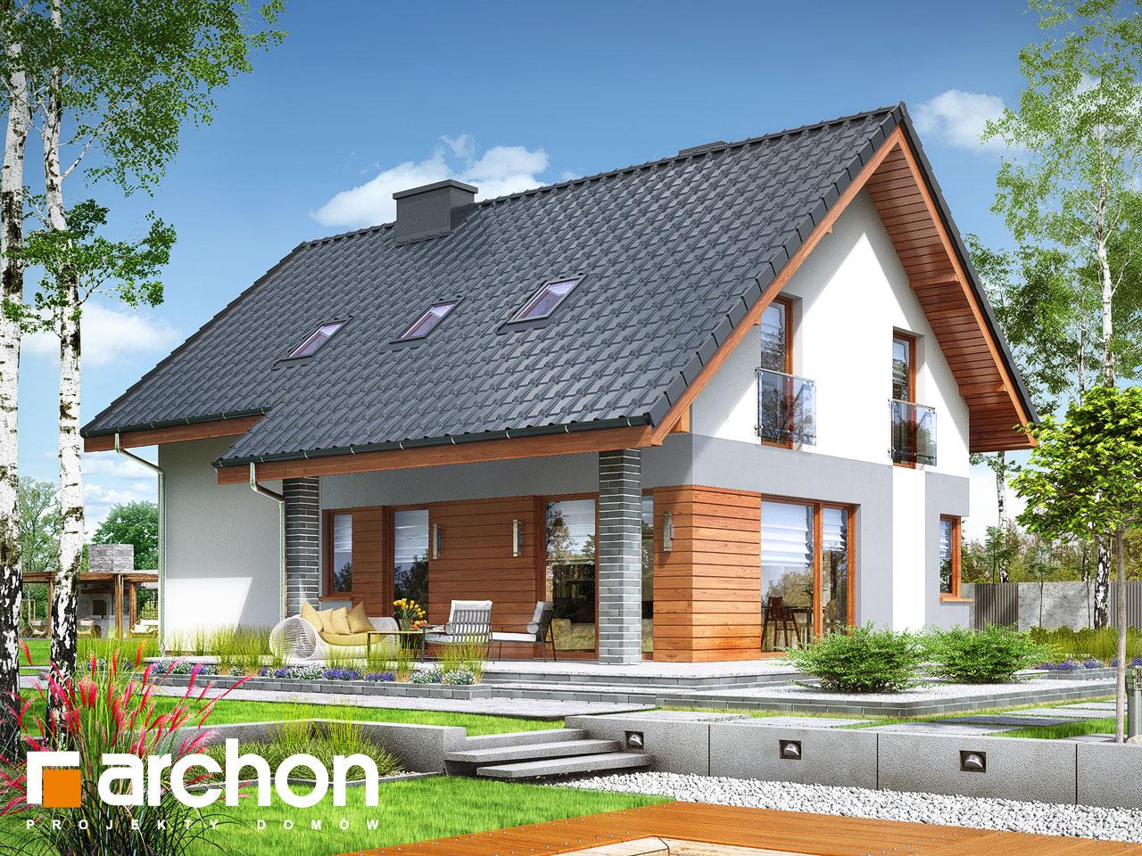 Проект будинку ARCHON+ Будинок в журавках 7 Вид 2
