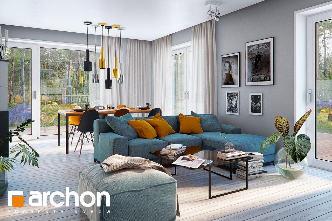 Проект дома ARCHON+ Дом в журавках 7 дневная зона (визуализация 1 вид 1)