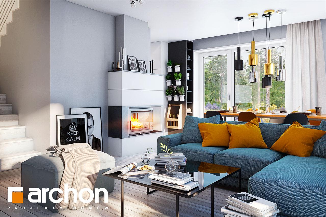 Проект дома ARCHON+ Дом в журавках 7 дневная зона (визуализация 1 вид 2)