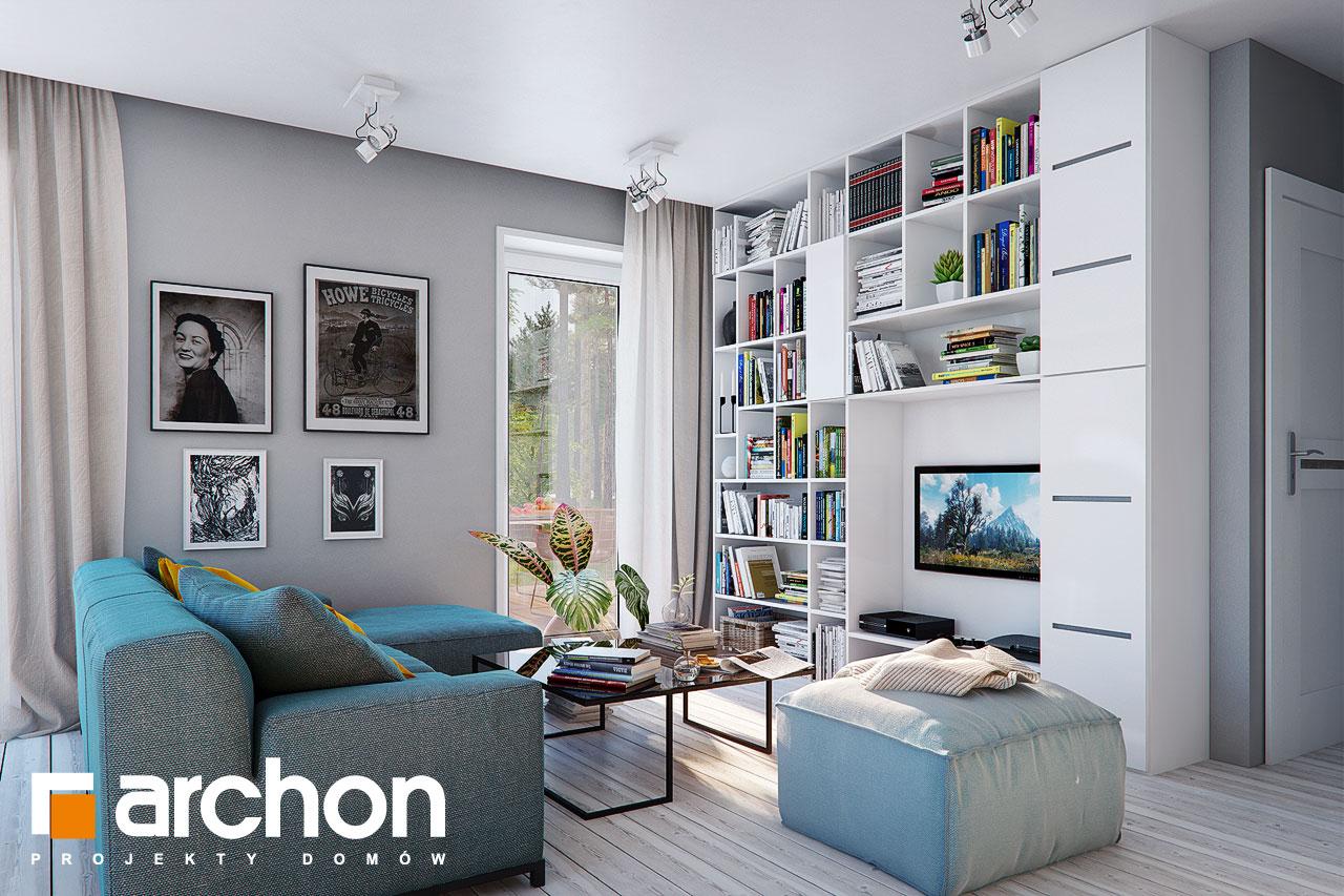 Проект дома ARCHON+ Дом в журавках 7 дневная зона (визуализация 1 вид 3)